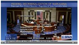 cannabis decriminalize bill passed house of representatives united states